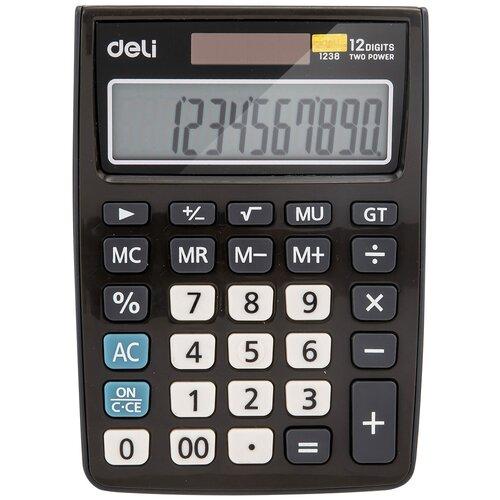 Калькулятор настольный Deli E1238black черный