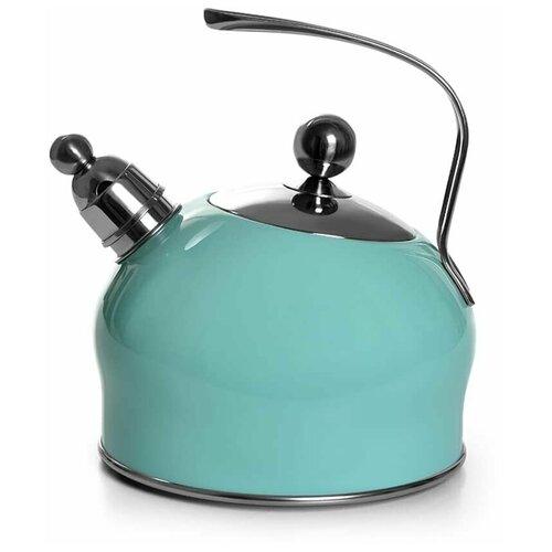 Чайник для кипячения воды PALOMA 2,5л, цвет аквамарин (нерж.сталь)