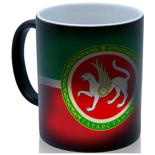 Кружка хамелеон флаг Татарстана, необычный подарок