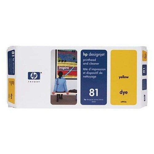Печатающая головка HP 81 желтая (1000 стр)