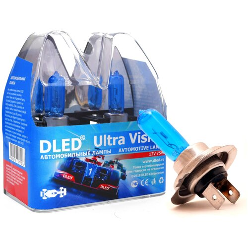 "Автомобильные лампы H7 75W 3000K DLED ""Ultra Vision"""