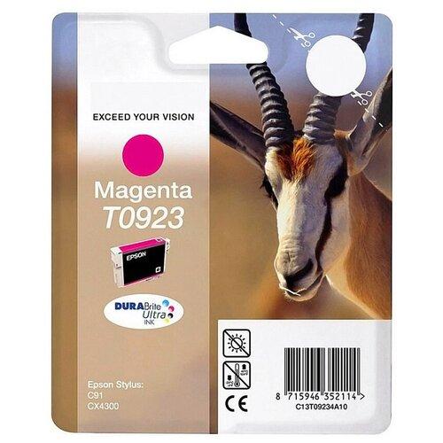 Фото - T0923 Magenta   C13T10834A10 струйный картридж Epson, 250 стр., пурпурный картридж струйный epson t605b c13t605b00 magenta