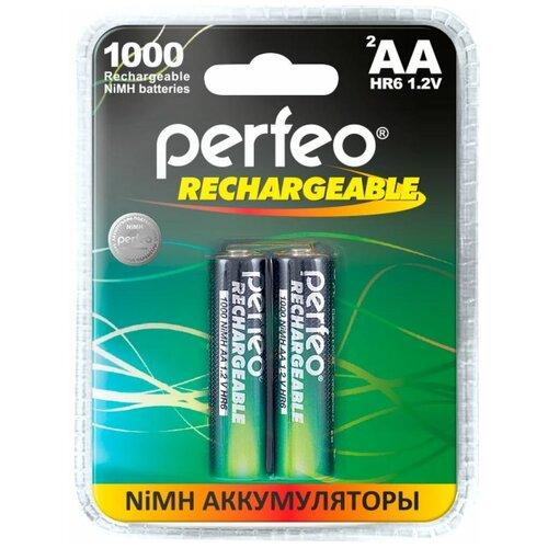 Фото - Perfeo AA1000mAh/2BL Аккумулятор Пластик аккумулятор perfeo aa2500mah 2шт