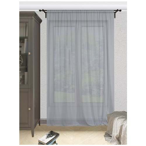 тюль тд текстиль кристин голуб 300 270 Тюль Костромской текстиль (300*280), серый