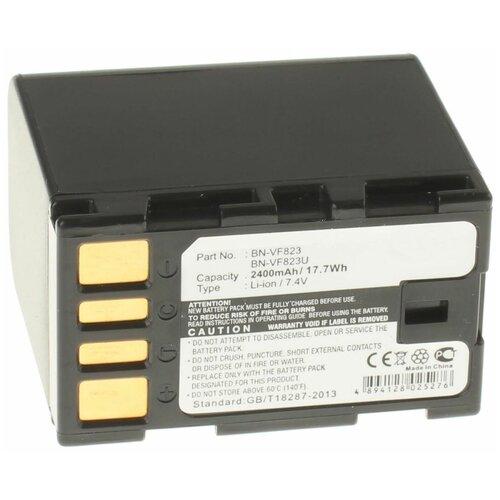 Аккумуляторная батарея iBatt 2400mAh для JVC GZ-HM200NER, для Jvc GR-D771, GR-D790, GZ-MG120, GZ-MG255AC, GZ-MG555, GZ-MG630AU