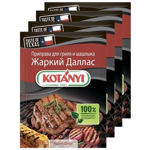 Приправа для гриля и шашлыка Жаркий Даллас KOTANYI, пакет 25г (x4) приправа для чесночного соуса kotanyi пакет 13г x4