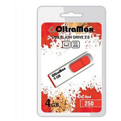 Фото - USB Flash Drive 4Gb - OltraMax 250 OM-4GB-250-Red usb flash drive 64gb oltramax 290 om 64gb 290 dark red