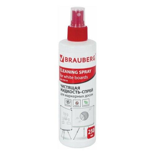 Фото - Чистящая жидкость-спрей для маркерных досок BRAUBERG, 250 мл, 510119 чистящая жидкость спрей brauberg 513288