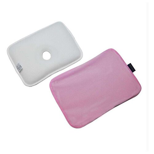 Подушка анатомическая и чехол для детей GIO Pillow Pink, розовая, размер M