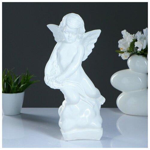 Фигура Ангел большой белый 10х18х38см 435731 фигура ангел пальчик во рту белый 8х9х15см 3865133