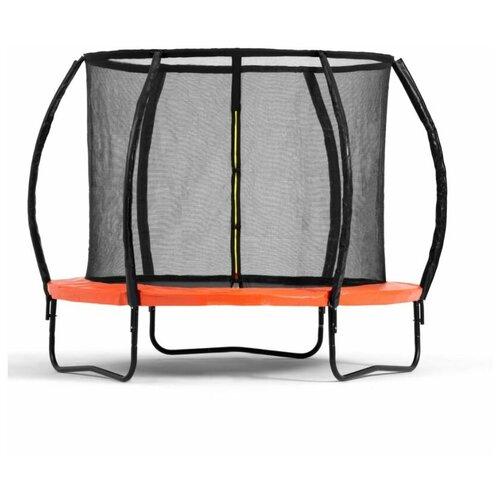 Фото - Батут DFC Trampoline Kengoo II с сеткой 8FT-BAS-BO (244 см) каркасный батут dfc trampoline kengoo ii 16ft bas bo оранжевый