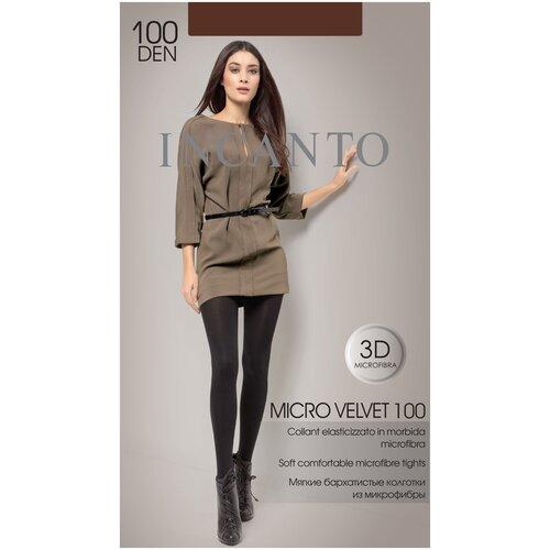 Колготки Incanto Micro Velvet, 100 den, размер 5-XL, moca (коричневый), 2 пары