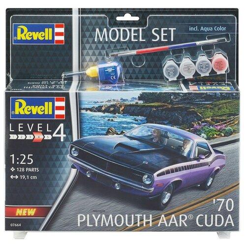 Набор со сборной моделью Revell 67664 Автомобиль 1970 Plymouth AAR Cuda, 1:25, Сборные модели  - купить со скидкой