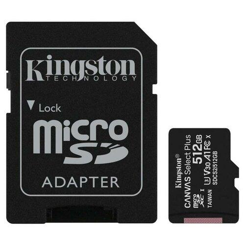 Фото - Карта памяти 512 ГБ microSDXC Kingston Canvas Select Plus Class 10 UHS-I (SDCS2/512GB) 1 шт. карта памяти 512gb kingston canvas select plus microsdxc u
