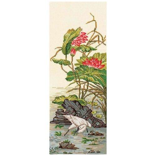 Набор для вышивания сделай своими руками К-35 Китайские мотивы-Цапля 17,5х45 см