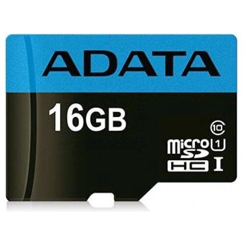 Фото - Карта памяти Adata microSDHC Premier Class 10 UHS-I U1 (30/10MB/s) 16GB + ADP a data карта памяти 16gb premier a1 microsdhc uhs i class 10 adata 90 25 mb s с адаптером