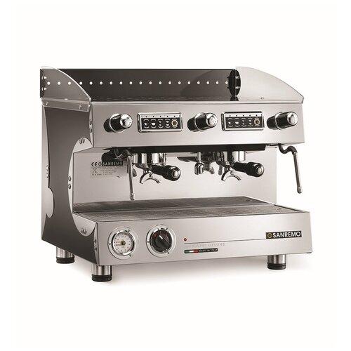 Кофемашина-автомат рожковая профессиональная для дома и кофейни Sanremo CAPRI SED DLX 2, 2 группы, черная