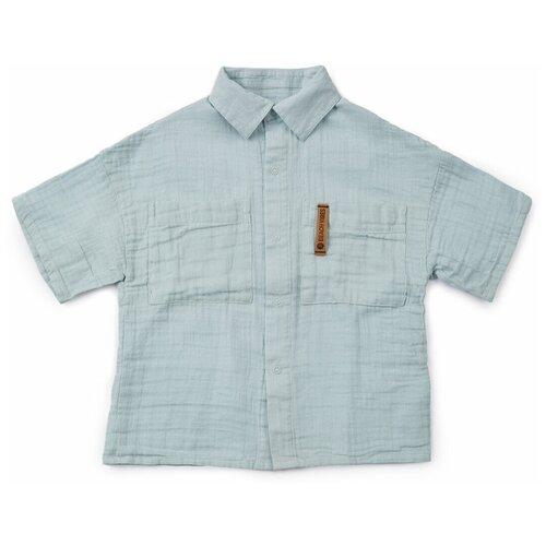 50619, Рубашка Happy Baby детская, пляжная, blue, 80-92