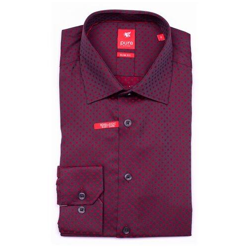 Рубашка pure размер M серый/красный
