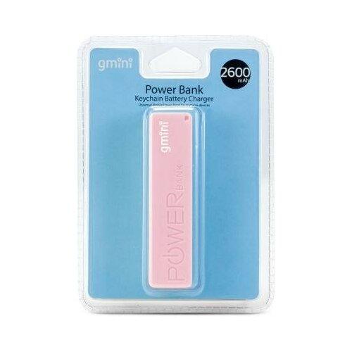 Gmini Внешний аккумулятор Gmini GM-PB026-P, 2600mAh, розовый
