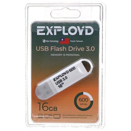 USB Flash Drive 16Gb - Exployd 600 EX-16GB-600-White usb flash drive 16gb exployd 580 ex 16gb 580 black