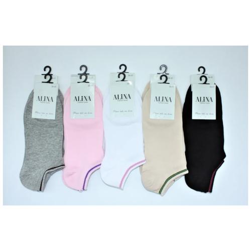 Носки женские Alina CL 003/ 10пар , серые, розовые, белые, бежевые, черные, размер 36-41