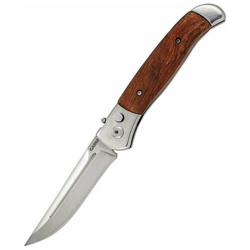 Фото - Нож автоматический с деревянной ручкой и клипсой Ножемир Чёткий расклад Garm A-122W нож складной автоматический ножемир stilettare a 201