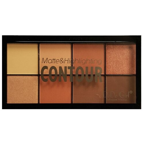DoDo Girl Палетка для макияжа Matte and highlight contour 02