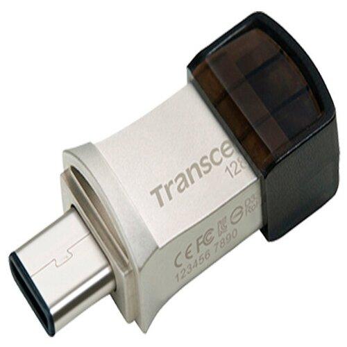 Фото - USB флешка TRANSCEND 64Gb JetFlash 890S USB Type-C/USB 3.1 Gen 1 серебристая портативный ssd transcend esd370c 500gb usb 3 1 g2 type c ts500gesd370c