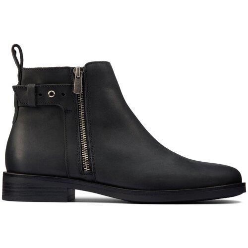 Ботинки Clarks , размер 38 , black leather туфли clarks clarks cl567ambuup3