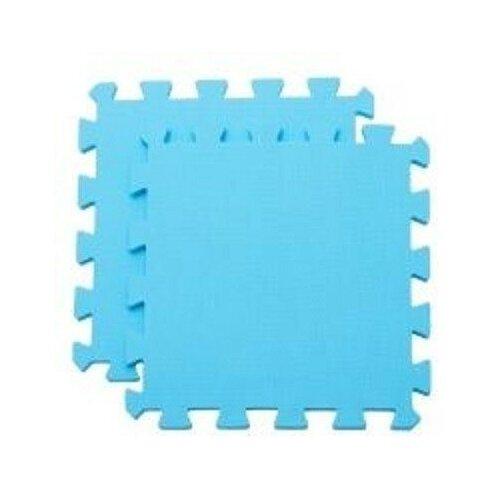 Мягкий пол универсальный, голубой, 33x33 см (9 деталей) мягкий пол eco cover универсальный 30х30 см сад огород 9 деталей