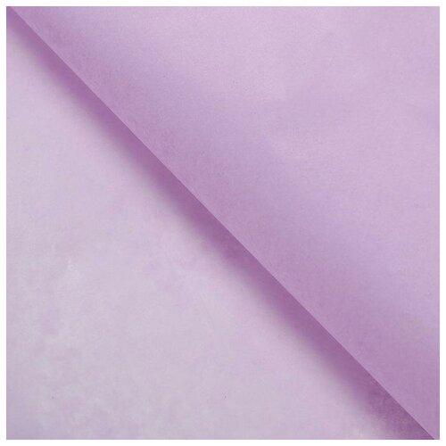Бумага упаковочная тишью, сиреневый, 50 см х 66 см, набор 10 шт. 7059636