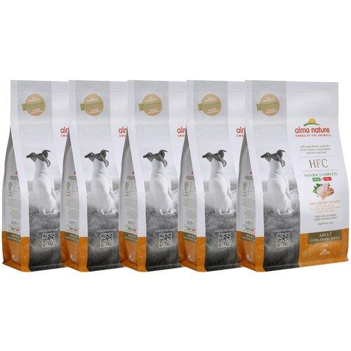 Almo Nature Для взрослых собак со свежей Курицей (50% мяса) для карликовых и мелких пород (XS-S Adult Chicken) 1,2 кг х 5 шт.