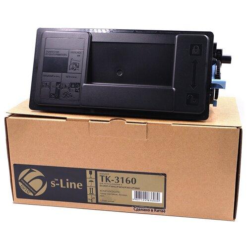 Тонер-картридж булат s-Line TK-3160 для Kyocera ECOSYS P3045, P3050, P3055, P3060 (Чёрный, 12500 стр.)