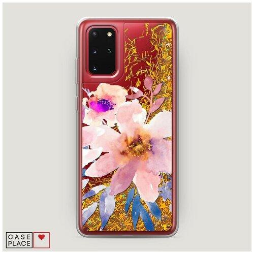Фото - Чехол Жидкий с блестками Samsung Galaxy S20 Plus Цветочная фантазия 6 чехол жидкий с блестками samsung galaxy s20 plus цветочная фантазия 1
