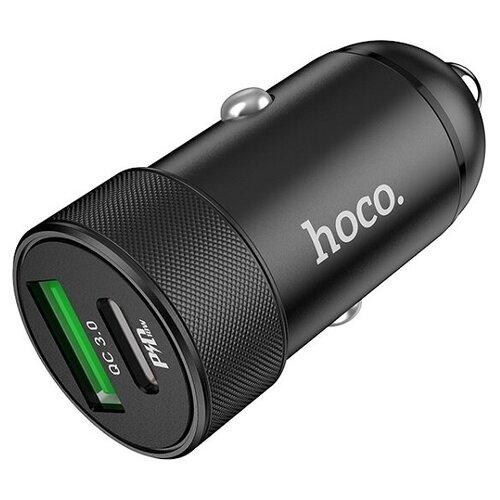 Автомобильное зарядное устройство HOCO Z32B PD20W+QC 3.0 металл черный HOCO Z32B