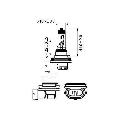 PHILIPS 12362PRC1 12362PRC1_лампа H11 12V 55W PGJ19-2 Vision\