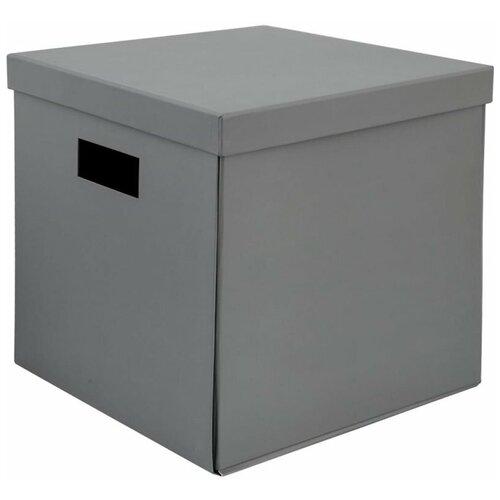 Коробка складная 31х31х30 см картон цвет серый