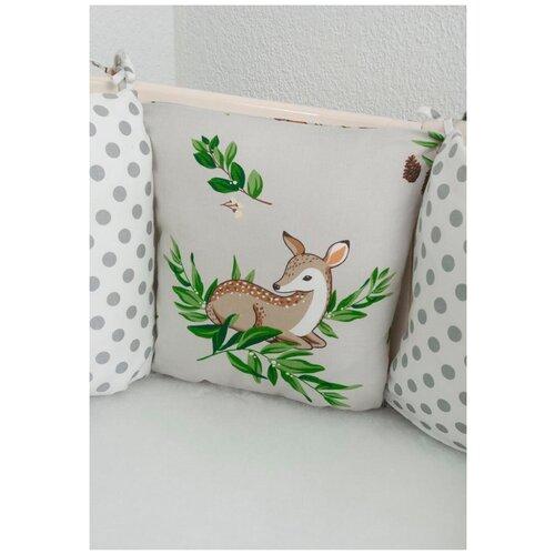 бортики в кроватку idea kids кролики Бортики-подушки в кроватку Лес
