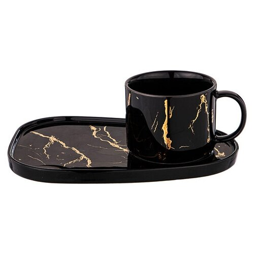 Чайная пара LEFARD FANTASY 220 МЛ черная (КОР=24НАБ.) 42-345