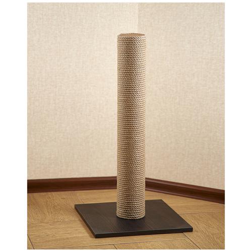 Когтеточка столбик BRAIL / джутовым плетением / венге 40*40*55 см