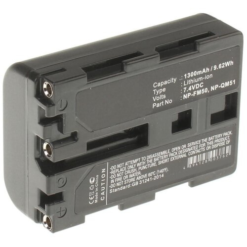 Фото - Аккумулятор iBatt iB-B1-F286 1300mAh для Sony NP-FM50, NP-FM30, NP-FM55H, NP-QM71, NP-QM71D, NP-QM91D, NP-QM51, NP-FM70, усиленный аккумулятор для видеокамеры sony np fp90 np fp91