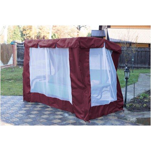 Тент-шатер Fler для качелей Палермо Премиум (240х144х180 см) бордо