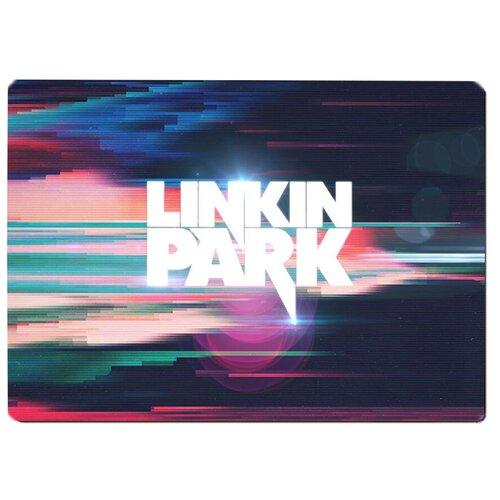 Коврик для мыши Linkin Park Разноцветные блики