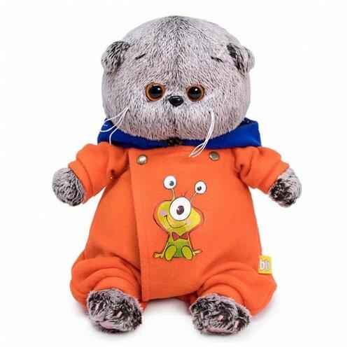 Мягкая игрушка Basik&Ko Басик Baby, в комбинезоне с монстриком, 20 см (BB-075)