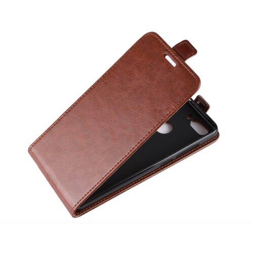Чехол-флип MyPads для iPhone 5 / 5S/ SE/ 5SE (Айфон 5/ 5С/ 5СЕ) вертикальный откидной коричневый
