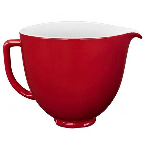 Фото - Чаша 4.7 л керамическая KitchenAid, красный, 5KSM2CB5ER kitchenaid чаша для мороженого kitchenaid kica0wh