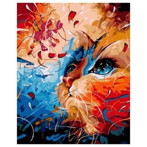 Купить Картина по номерам Рыжий кот Кот в мечтах TM COLIBRI 40х50 см VA-0134 холст, Картины по номерам и контурам