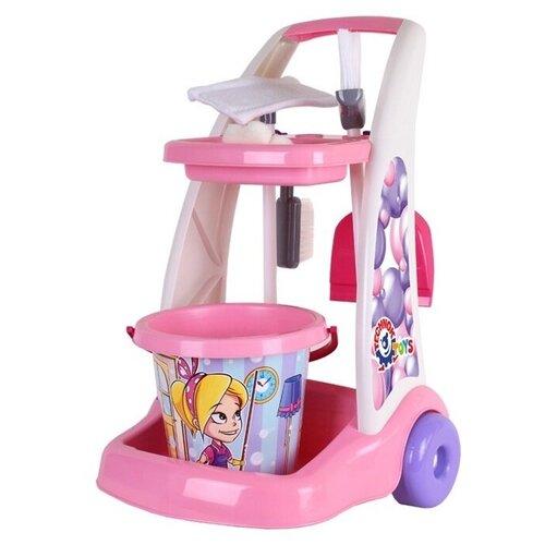 Набор для уборки ТехноК Маленькая хозяйка, с тележкой, Cleaning set (Т6429)