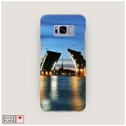 Чехол Пластиковый Samsung Galaxy S8 Разведенные мосты в СПб 2